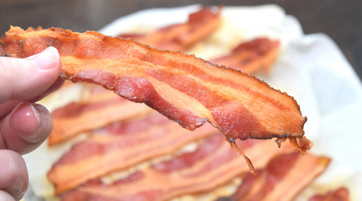 Bacon cooking method in the Microwave